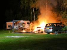 Vakantievrienden zagen in Bladel caravan uitbranden waarin echtpaar omkwam