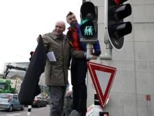 Nieuw verkeerslicht steuntje voor homo