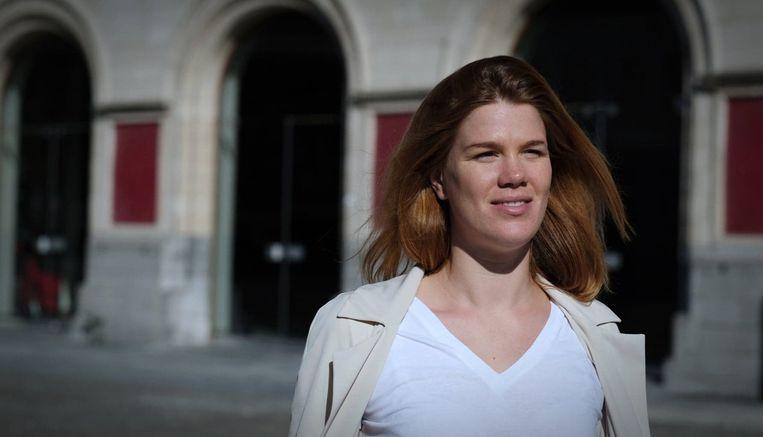 Gaëlle Vanhaverbeke, de nieuwe coördinator van Sinksen, bij de stadsschouwburg