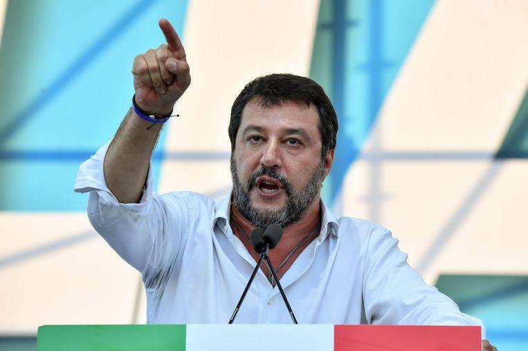 De extreemrechtse politicus Matteo Salvini