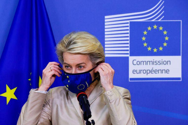Commissievoorzitter Ursula von der Leyen.  Beeld EPA