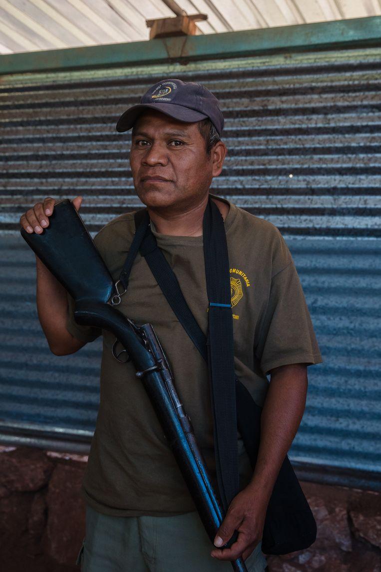 Bernardino Sanchez: 'Pas nu onze kinderen met wapens rondlopen, schreeuwt de president plots moord en brand.' Beeld Ariana Drehsler