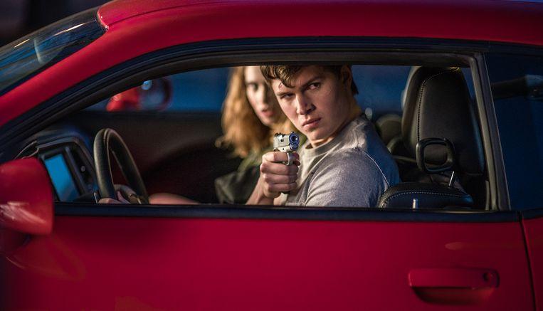 Lily James en Ansel Elgort in Baby Driver van Edgar Wright Beeld