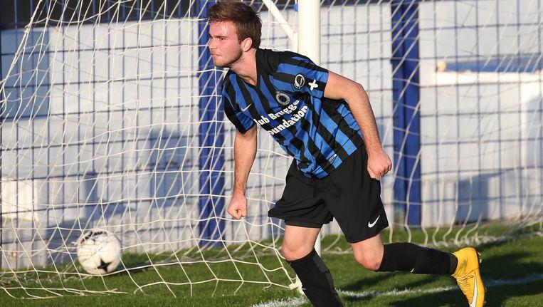 Fran Brodic scoorde opnieuw voor de Brugse beloften. Beeld belga