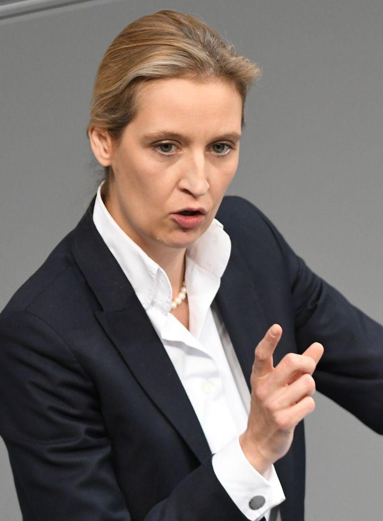 AfD-fractievoorzitster Alice Weidel. Beeld EPA