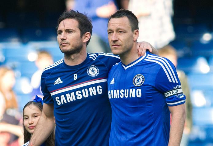 Frank Lampard (l) en John Terry.