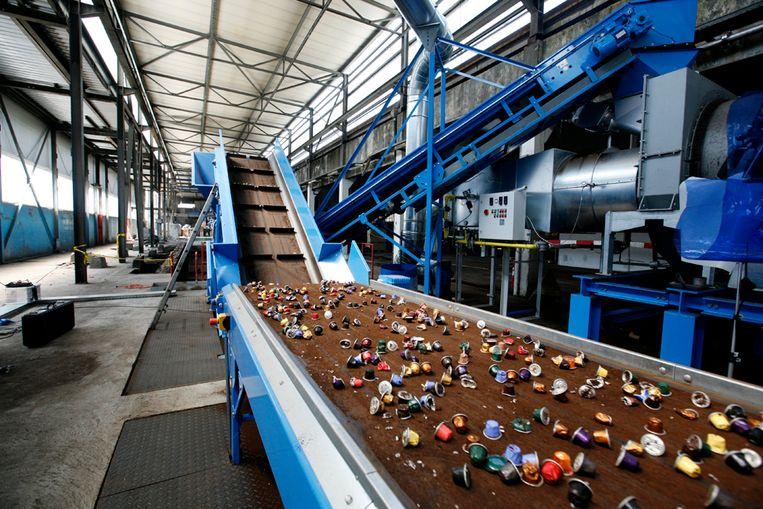 Nespresso recyclagefabriek Beeld Nespresso
