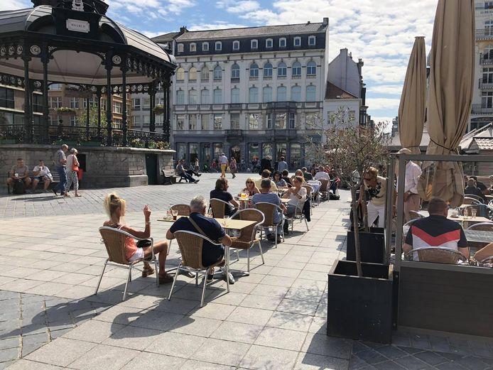 Ook vorig jaar werden de terrassen in Oostende fors uitgebreid.