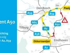 A50 Eindhoven - Oss dicht na ernstig ongeluk bij Uden