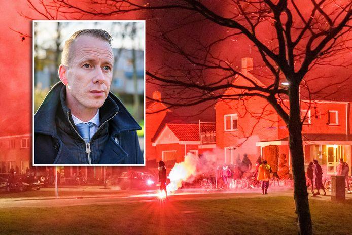 De burgemeester van Urk heeft aangifte gedaan vanwege bedreiging rondom de vuurwerkrellen in zijn gemeente.