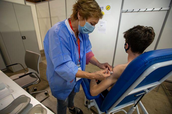 Centre de vaccination du Heysel, Bruxelles (archive d'illustration)