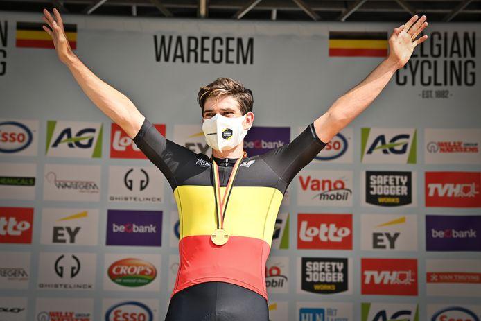Wout van Aert start aan de Tour in de tricolore.