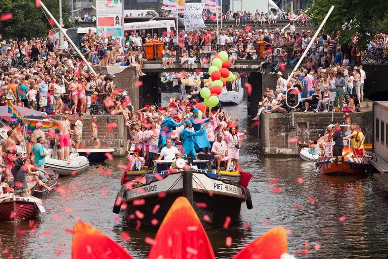 De Marokkaanse boot die in 2014 meevoer in de Canal Parade tijdens Gay Pride Beeld Bram Belloni