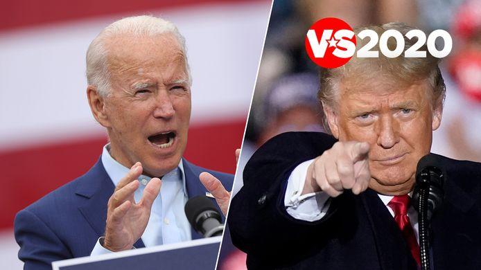 Joe Biden en Donald Trump: wie van hen haalt het op 3 november?