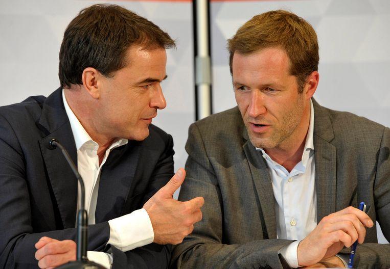 Benoît Lutgen (cdH) en Paul Magnette (PS), toen ze wel nog met elkaar spraken.