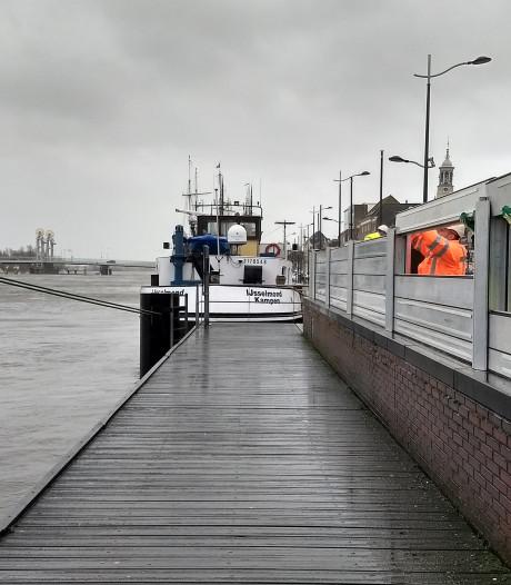 Hoogwaterbrigade Kampen oefent ook met de klepkeringen die binnenkort weggaan