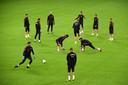 Het nationale voetbalteam van Turkije in het Stade de France in Saint-Denis, Noord-Parijs.