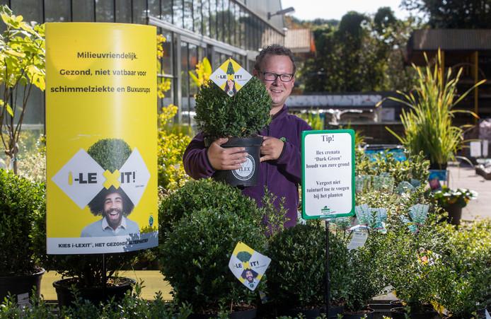 Tuincentrum de Oude Tol in Wageningen verkoopt alternatieven voor de buxus.