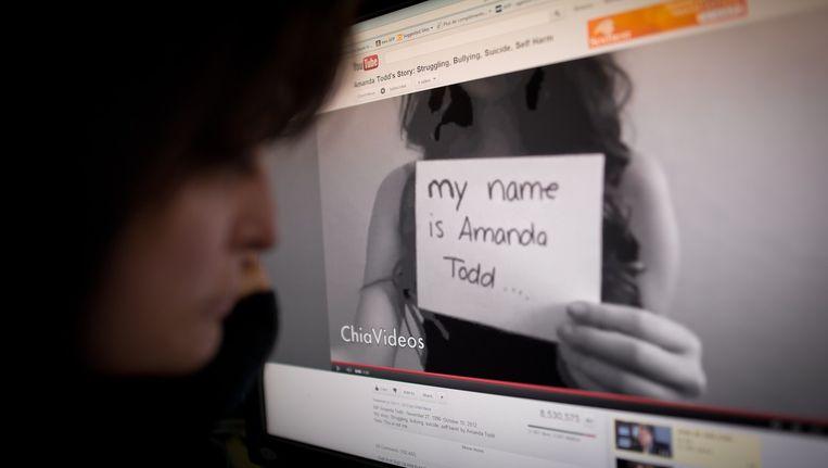 De Canadese tiener Amanda Todd zou tot zijn slachtoffers hebben behoord. Beeld ANP