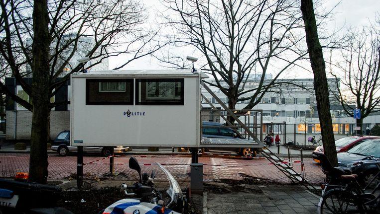 De Scholengemeenschap in Cheider werd na de aanslagen in Parijs enige tijd beveiligd Beeld anp