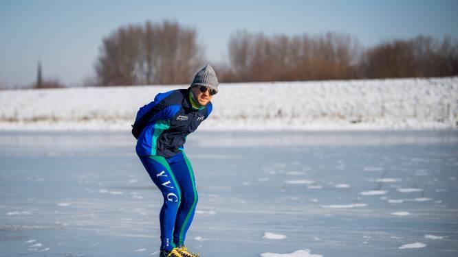 Schaatsdroom is voorbij: schaatsverbod op spaarbekken Kleit