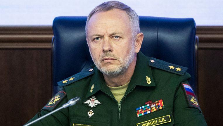 De Russische vice-minister van defensie Alexander Fomin