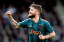 Lasse Schone heeft de 1-0 voor Ajax gescoord.