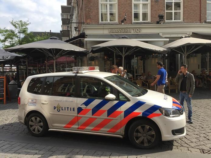 De mannen kregen ruzie op het terras van brasserie Top aan de Markt in Den Bosch.