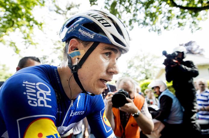 2019-06-30 17:01:47 EDE - Winnaar Fabio Jakobsen na zijn overwinning tijdens de wegwedstrijd mannen van het NK wegwielrennen. ANP KOEN VAN WEEL