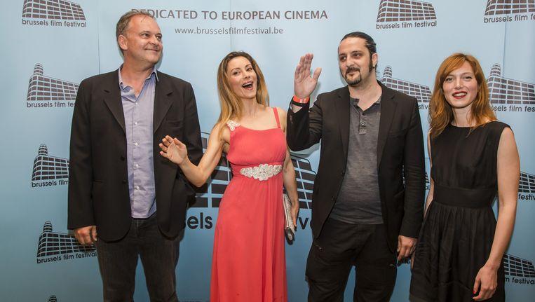 Leden van de jury Christian Carion, Antonella Salvucci, Olivier Masset Depasse en Erika Sainte.