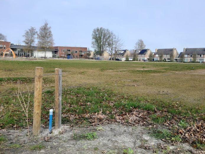 Het terrein waar ooit de Hispohal stond aan de JF Kennedylaan.