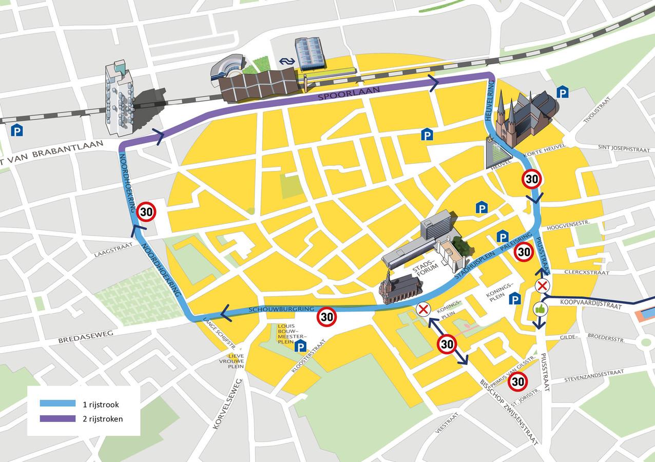 De nieuwe ring: overal eenbaans, dertig kilometer per uur en vele malen autoluwer.