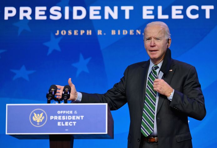 De Amerikaanse president-elect Joe Biden.