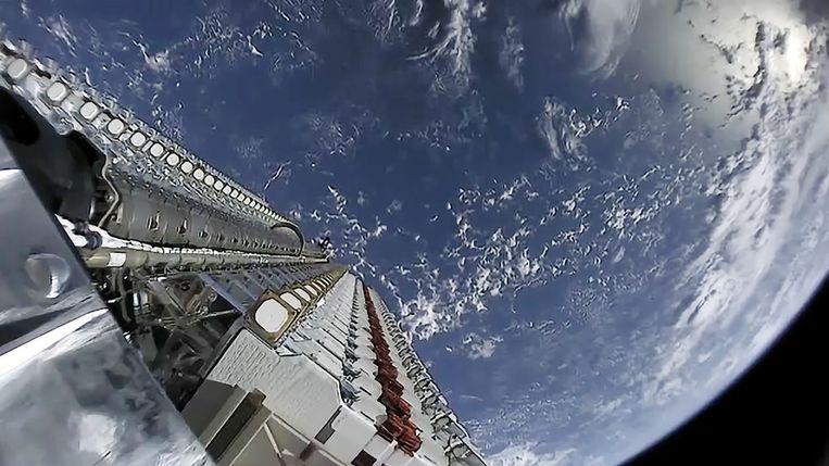 Er zijn nu al 1.565 Starlinks in de ruimte gebracht. Beeld Photonews