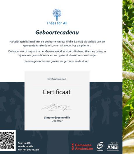 Babyboom in De Geelders: voor elke Amsterdamse baby een boom er bij