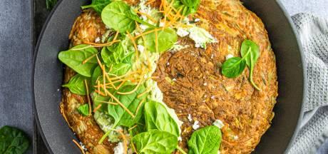 Wat Eten We Vandaag: Rösti met spinazie, feta en avocadospread