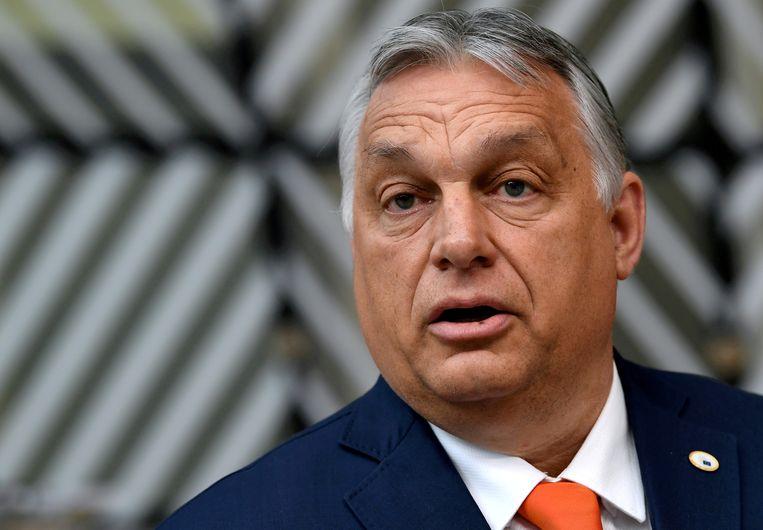 'Het gáát niet over ideologie, het gaat Orbán om macht en geld.'  Beeld REUTERS