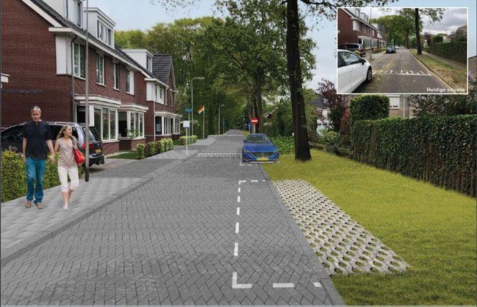 De gemeente wil van de Prinses Margrietlaan eenrichtingsverkeer maken en de bomen ruimte geven. Inzet: de situatie zoals die nu is.