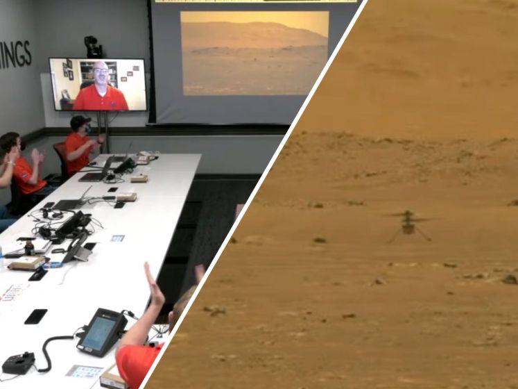 Bijzonder: onbemande helikopter maakt historische eerste vlucht op Mars