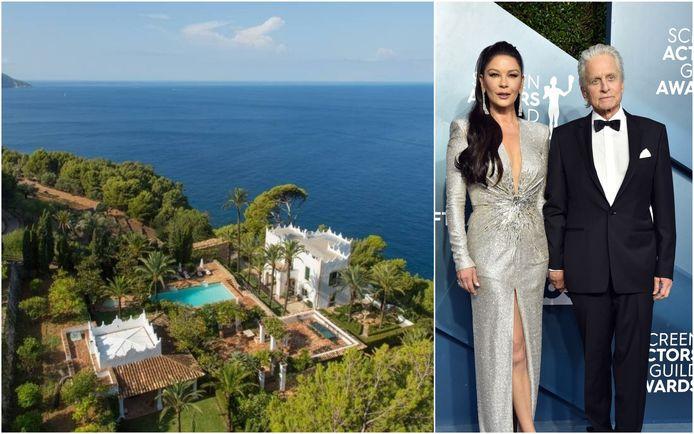 Catherine Zeta-Jonas en Michael Douglas in Mallorca