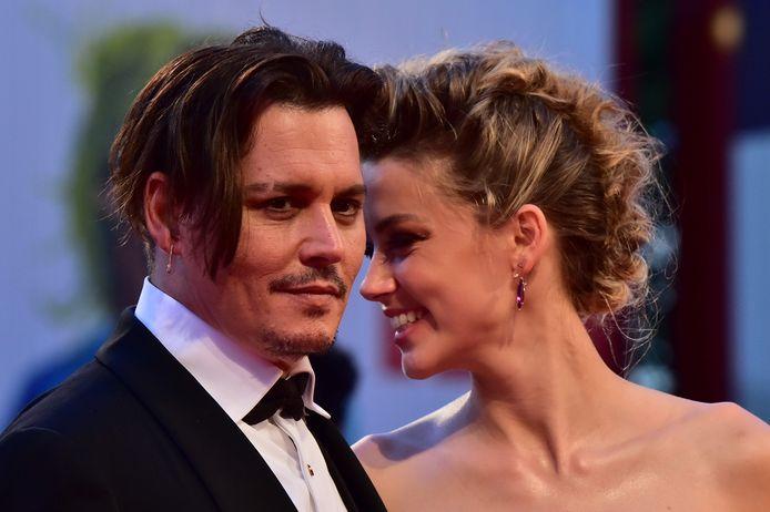 Johnny Depp en Amber Heard in betere tijden.