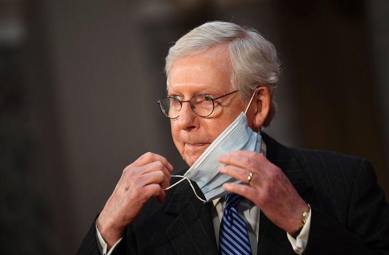 De Republikeinse Senaatsleider Mitch McConnell. Beeld AP