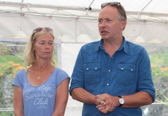 Hans (rechts) wn Roeli Kremers, de ouders van Kris.