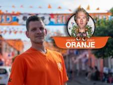 Terry uit Zwolle heeft in zijn straat ruim 3 kilometer aan oranje vlaggetjes opgehangen. En nóg is hij niet klaar