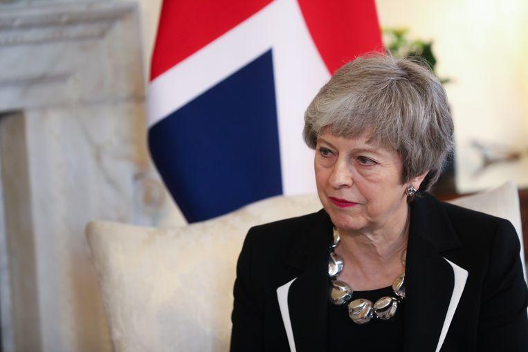 May heeft nog 27 dagen om een goede oplossing te vinden voordat het Verenigd Koninkrijk officieel de EU moet verlaten. Beeld EPA