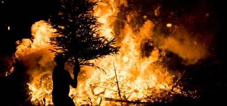 Souburgse kerstbomen uit winkelstraat gestolen en in de fik gestoken