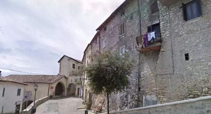 Une ruelle de Maenza, un petit village dans le centre de l'Italie.