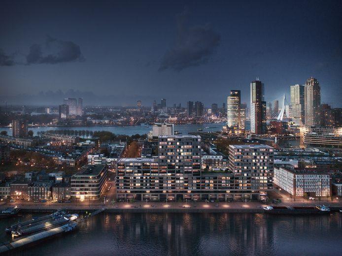 Het populaire Katendrecht krijgt er met Havenkwartier maar liefst 200 luxe woningen bij.