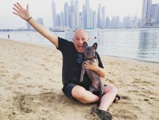 """Gordon herenigd met hond in Dubai: """"Hij vindt het geweldig"""""""