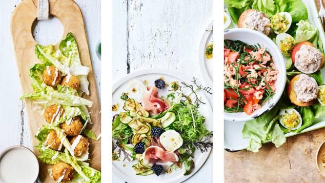 Caesarsalade 2.0 en gepimpte tomaat-garnaal: 5 recepten voor een frisse 'salade locale' met duurzame, lokale lekkernijen